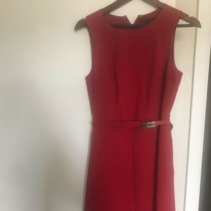 Beautiful red dress with matching belt